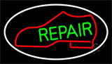 Red Boot Green Repair With Border LED Neon Flex Sign
