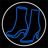 Pair Of Boots With Border LED Neon Flex Sign