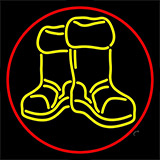 Winter Boots With Red Border LED Neon Flex Sign