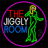 The Jiggly Room With Girl Logo LED Neon Flex Sign