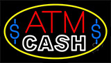 Red Atm With Cash 2 LED Neon Flex Sign