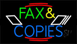 Multicolored Fax And Copies LED Neon Flex Sign