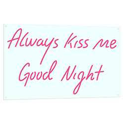 Always Kiss Me Goodnight Light Up Sign