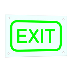 Exit Neon Sign