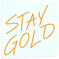 Stay Gold Neon LED Sign