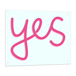 Yes LED Neon Sign