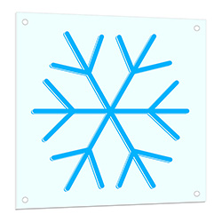 Snowflakes Neon Light Up Sign