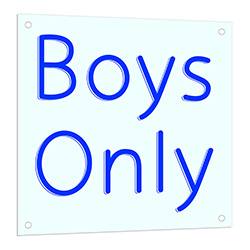 Boys Only LED Neon Sign