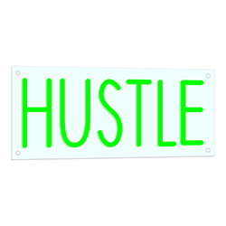 Hustle Neon LED Sign