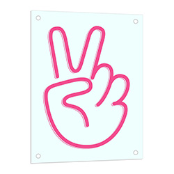 Peace Neon LED Sign