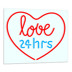 Love 24 Hours Neon Sign