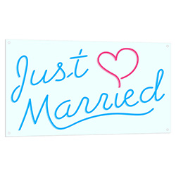 Just Married Neon LED Sign
