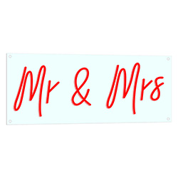 Mr And Mrs Neon LED Sign