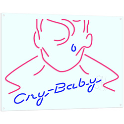 Cry Baby Neon Flex Sign