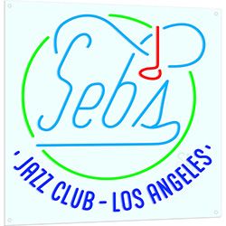 Sebs Jazz Club Los Angeles Neon Flex Sign