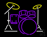 Drum Set LED Neon Flex Sign