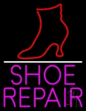 Pink Shoe Repair With Line LED Neon Flex Sign