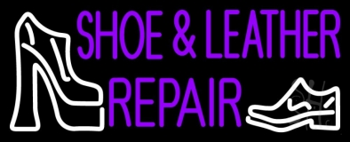Purple Shoe And Leather Repair LED Neon Flex Sign
