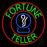 Green Fortune Teller With Logo LED Neon Flex Sign