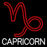 White Capricorn Red Logo LED Neon Flex Sign