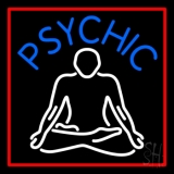 Blue Psychic Logo With Red Border LED Neon Flex Sign