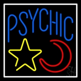 Blue Psychic With Moon And Star LED Neon Flex Sign