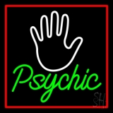Green Psychic With Red Border LED Neon Flex Sign
