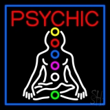 Psychic Health Blue Border LED Neon Flex Sign