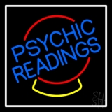Psychic Readings Crystal White Border LED Neon Flex Sign