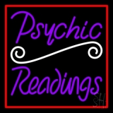 Purple Psychic Readings With Red Border LED Neon Flex Sign
