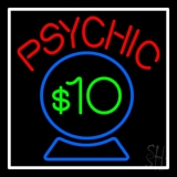 Red Psychic Blue Crystal Globe And White Border LED Neon Flex Sign