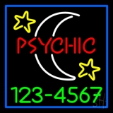 Red Psychic White Logo Green Phone Number LED Neon Flex Sign