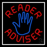 Red Reader Advisor White Border LED Neon Flex Sign