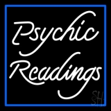 White Psychic Readings With Border LED Neon Flex Sign