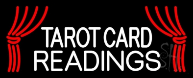 White Tarot Card Readings LED Neon Flex Sign