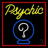Yellow Psychic With Red Border LED Neon Flex Sign