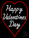 Happy Valentines Day Heart Logo LED Neon Flex Sign