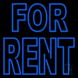 Double Stroke Blue For Rent LED Neon Flex Sign