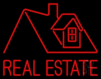 Real Estate Home Logo LED Neon Flex Sign
