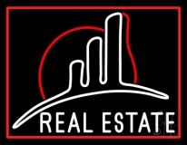 Real Estate With 1 Logo LED Neon Flex Sign