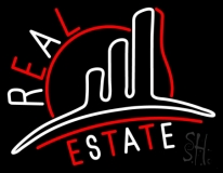 Real Estate With Logo 3 LED Neon Flex Sign