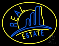 Real Estate With Logo 4 LED Neon Flex Sign