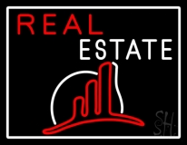 Real Estate With Logo 5 LED Neon Flex Sign
