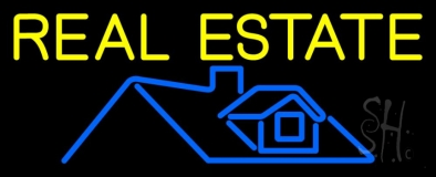 Real Estate Home Logo 1 LED Neon Flex Sign