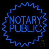 Blue Notary Public LED Neon Flex Sign