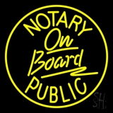 Notary Public On Board LED Neon Flex Sign