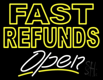 Fast Refunds Open LED Neon Flex Sign