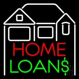 Home Loans With Home Logo LED Neon Flex Sign