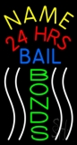 Custom Bail Bonds With Line 24 Hrs LED Neon Flex Sign
