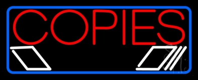 Red Copies Blue Border LED Neon Flex Sign